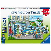 Ravensburger 2 - 24 Piece Puzzles Police At Work