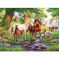 Ravensburger 300 Piece Puzzle Horses ByThe Stream