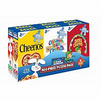 White Mountain Puzzle Mini Cereal Boxes 6 - 100 Piece Puzzles