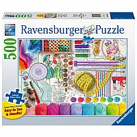 Ravensburger 500 Piece Large Format Puzzle Needlework Station