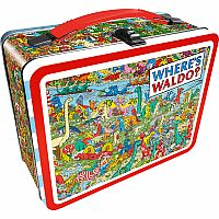 NMR WHERE'S WALDO TIN LUNCH BOX