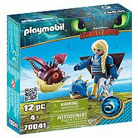 PLAYMOBIL DRAGONS ASTRID WITH HOBGOBBLER