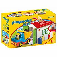 PLAYMOBIL 123 CONSTRUCTION TRUCK WITH GARAGE