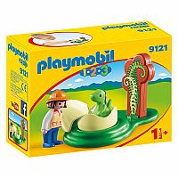PLAYMOBIL 123 GIRL WITH DINO EGG