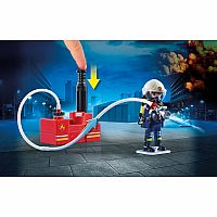 PLAYMOBIL CITY ACTION FIRE FIGHTERS WITH WATER PUMP