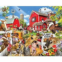 White Mountain Puzzles Funny Farm 1000 Piece Puzzle