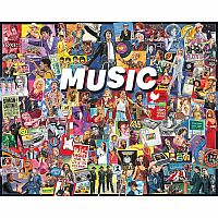 White Mountain Puzzles Music 1000 Piece Puzzle